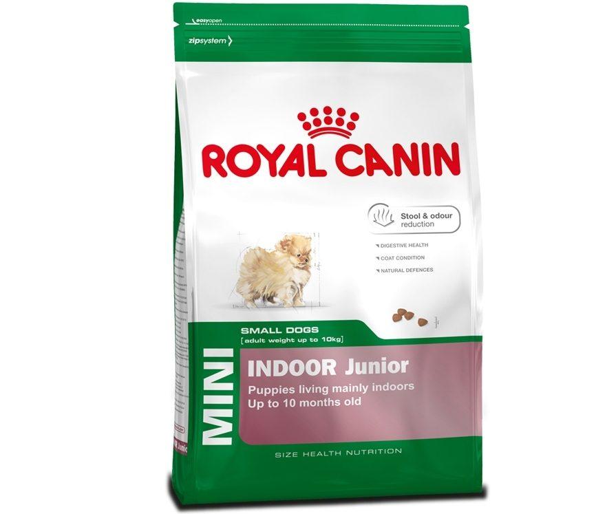Корм royal canin mini indoor junior