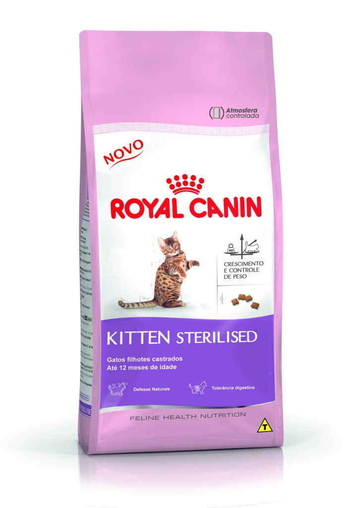 royal canin feline health nutrition kitten sterilised casa da ra o. Black Bedroom Furniture Sets. Home Design Ideas