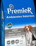 Embalagem Ração Premier Ambientes interno Cão Adulto Light