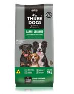 Embalagem Three dogs Adulto Raças Médias e Grandes Carne e Legumes