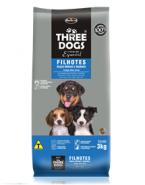 Embalagem Three dogs Filhotes Raças Médias e Grandes  Frango, Ovos e Arroz